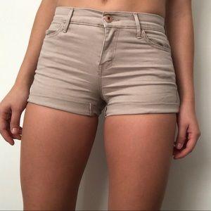 Low-rise Abercrombie and Kids khaki shorts